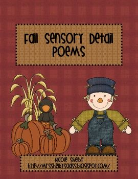From this writing activity, the students will generate a poem about fall in which the students practice using descriptive sensory language in writi...