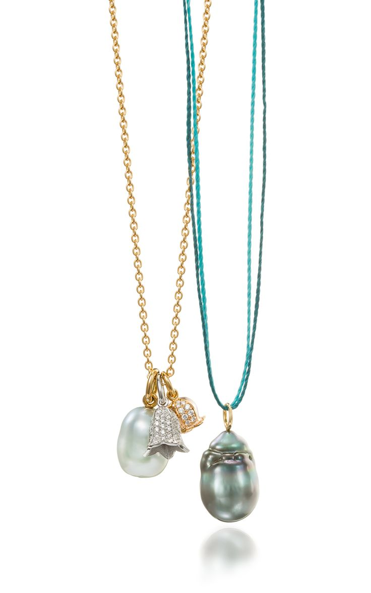 Floral And Pearl Pendants