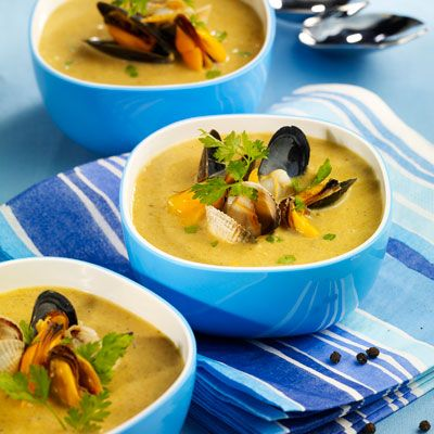 Soupe de moules et de coques