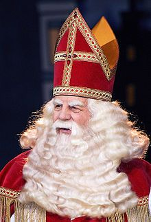 Sinterklaas (or more formally Sint Nicolaas) traditionally arrives in the Netherlands each year in mid-November (usually on a Saturday) by steamboat from Spain. His birthday is celebrated annually on Saint Nicholas' eve (5th of December). He brings gifts to the children. Sinterklaas is the basis for the North American figure of Santa Claus. Read more on http://en.wikipedia.org/wiki/Sinterklaas.