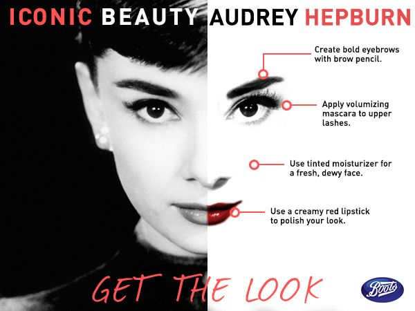 Follow our step by step guide for a glam makeup look from the iconic beauty, Audrey Hepburn
