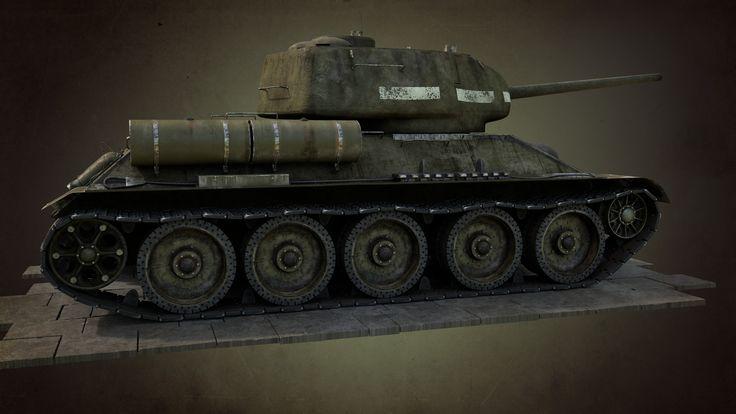 ArtStation - Soviet Tank T34/85, Mikhail Fomenko