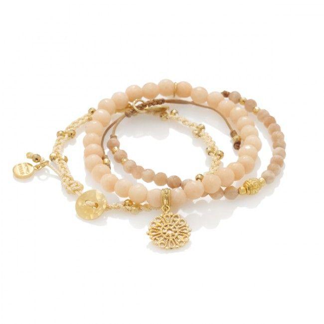Zestaw z kamieni naturalnych i pozłacanego srebra - Mokobelle #mokobelle #mokobellejewellery #jewellery #buythelook