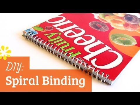 How to Make a Spiral Bound Book / DIY Spiral Binding