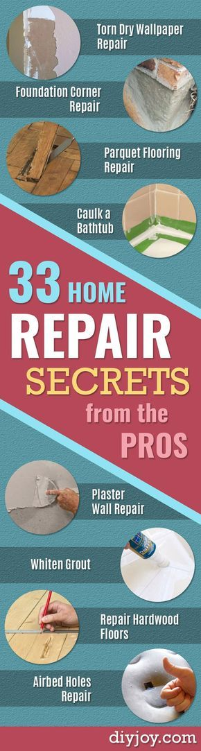 33 Home Repair Secrets From the Pros -  Home Repair Ideas, Home Repairs On A Budget, Home Repair Tips, Living Room, Bedroom, Kitchen Repair, Home Improvement, Quick And Easy Home Tips http://diyjoy.com/diy-home-repair-secrets