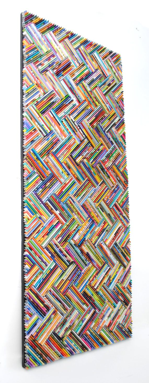 colorful herringbone wall art made from by colorstorydesigns