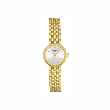 T0580093303100 Μικρό θηλυκό γυναικείο ρολόι TISSOT LOVELY σε ασημί καντράν και επίχρυσο μπρασελέ | Ρολόγια TISSOT στο Χαλάνδρι ΤΣΑΛΔΑΡΗΣ