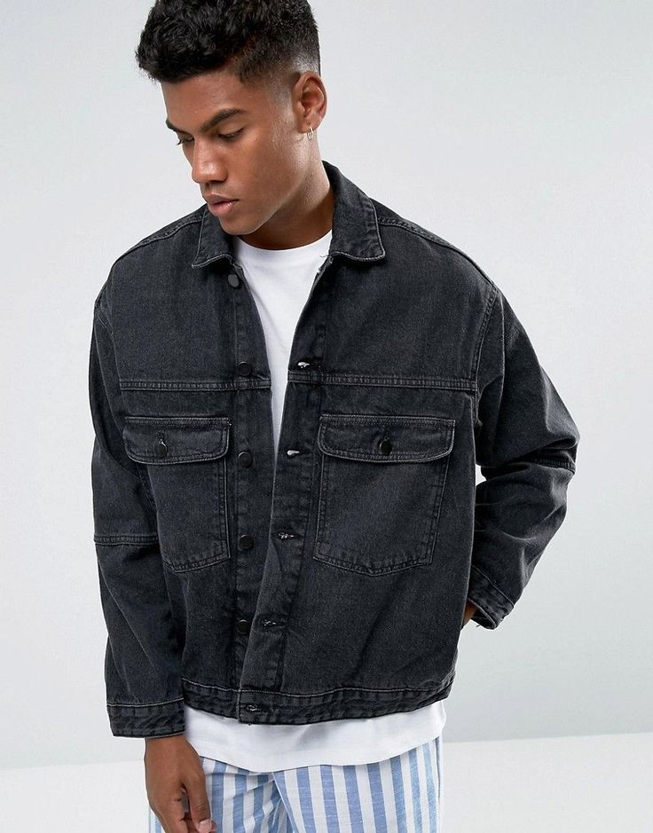 Get this Zeffer's denim jacket now! Click for more details. Worldwide shipping. Zeffer Trucker Style Denim Jacket in Washed Black - Black: Jacket by Zeffer, Non-stretch denim, Washed black, Spread collar, Button placket, Functional pockets, Relaxed fit, Machine wash, 100% Cotton, Our model wears a size Medium and is 183cm/6'0 tall. (chaqueta vaquera, vaquera, denim, jeansjacke, chaqueta denim, veste en jean, giacca in jeans)