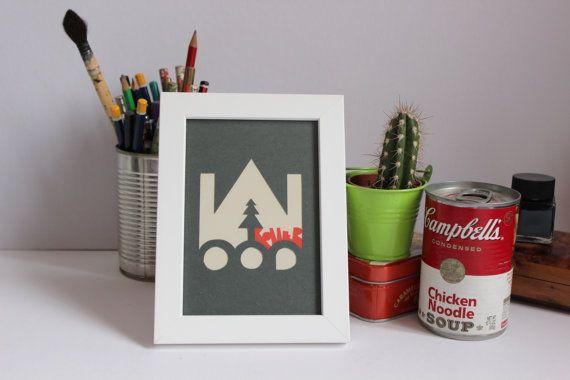 Cadre décoration design, collages originales, typographie www.etsy.com/fr/shop/Typeforce