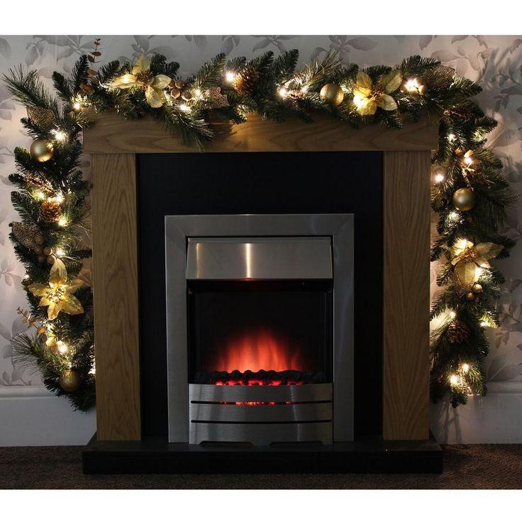 #Ebay #Christmas #Decoration #Garland #1.8 #Mt #Cream #Gold #Mantelpiece #Bannister #Mirror