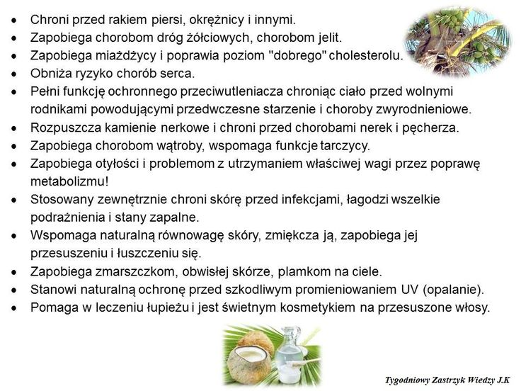 kokos w medycynie