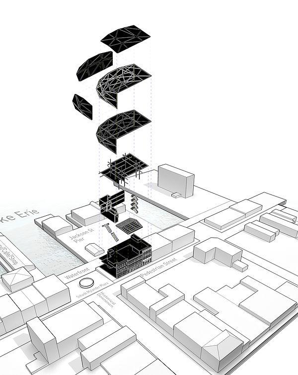 Axon_Project Name: Adaptive Reuse Location: Sandusky, OH. Architecture  StudentArchitecture DesignAdaptive ...