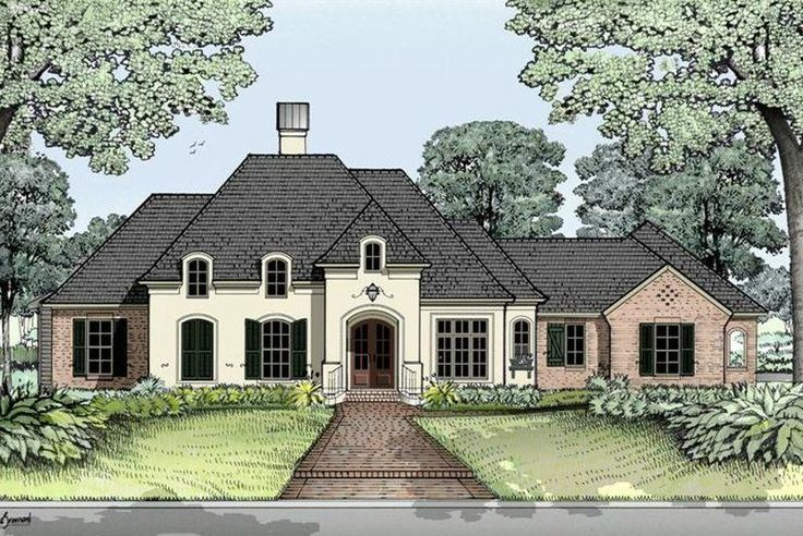 House Plan 2631 square feet French Country Home Style Design, French Country House Plan, Country French House Plan, South Louisiana House Plans - 2,000+ sq.ft - Very close to what I want