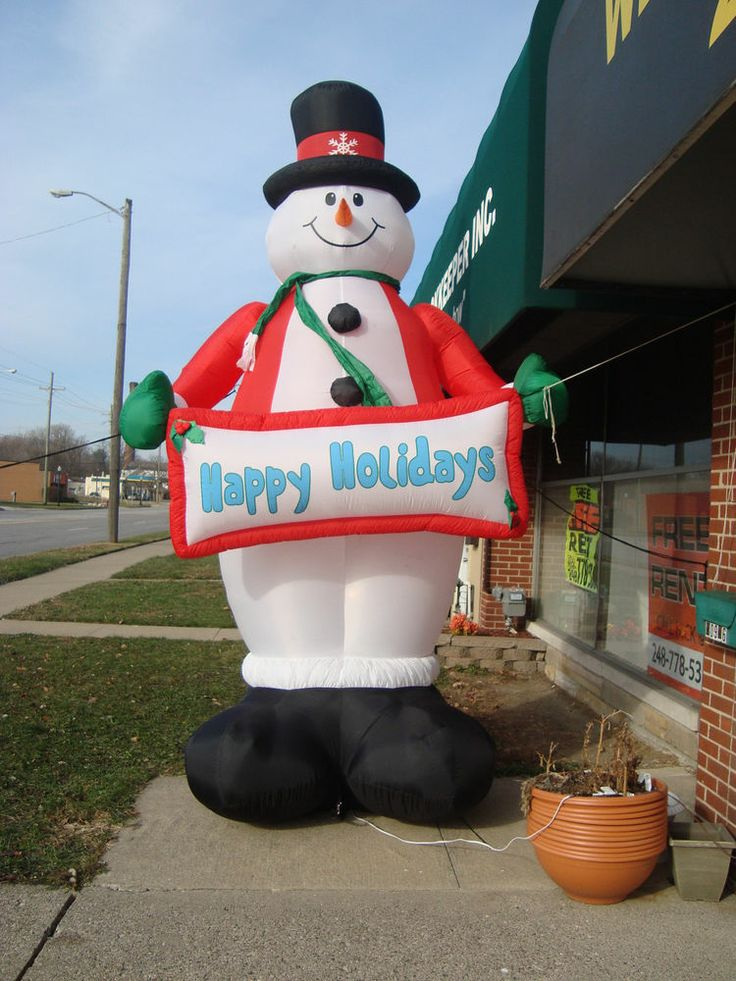 Frosty The Snowman 12 Ft Tall Lighted Inflatable Happy