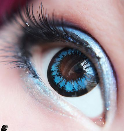 GEO Super Angel Blue 14.8mm circle eye contacts. Authentic products from GEO medical in South Koea only at EyeCandy's