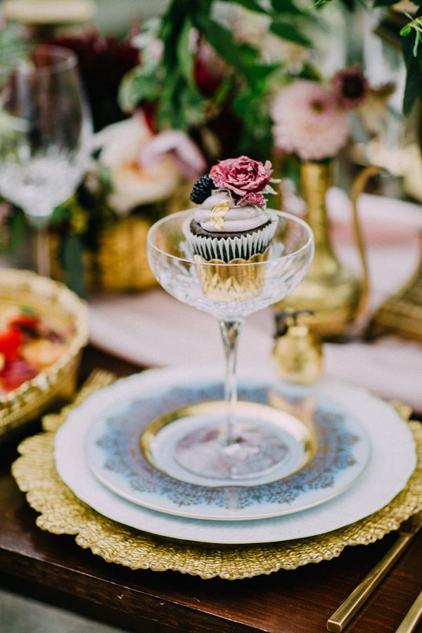 wedding cupcake - photo by Purple Tree Photography http://ruffledblog.com/romantic-elegance-at-spadina-museum
