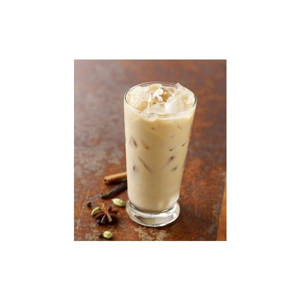 Iced Classic Chai Tea Latte ❤ liked on Polyvore featuring food, pictures, brown, drinks and food and drink