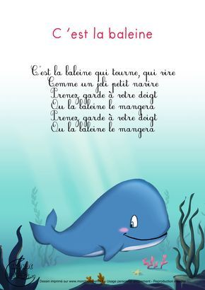 micaela delagarde looks like there are several of these videos in French.  I thought you might be interested in them.  Paroles_C'est la baleine