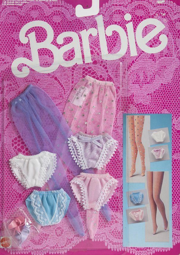 1986 Barbie Fancy Frills Lingerie 3181 panties, nylons, pantyhose, shoes