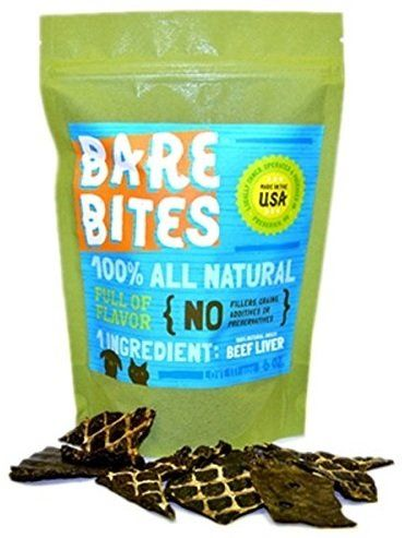 Bare Bites - 100% All Natural Dehydrated Beef Liver Dog and Cat Treats (6 Ounce Bag) ** Read more info by clicking the link on the image.
