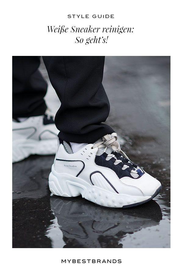 Weiße Sneaker & Schuhe reinigen: So werden Schuhe wieder