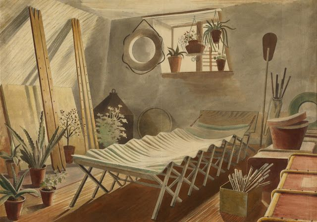 Eric Ravilious – The Attic Bedroom