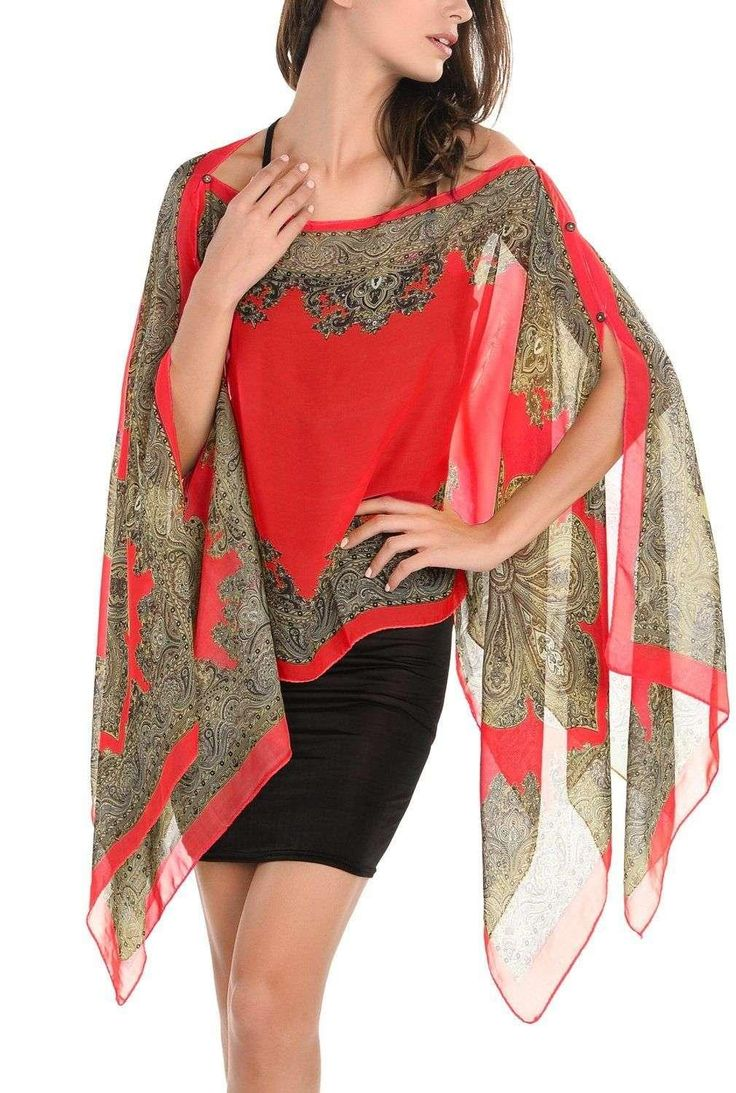 Image result for floor length chiffon poncho cover up