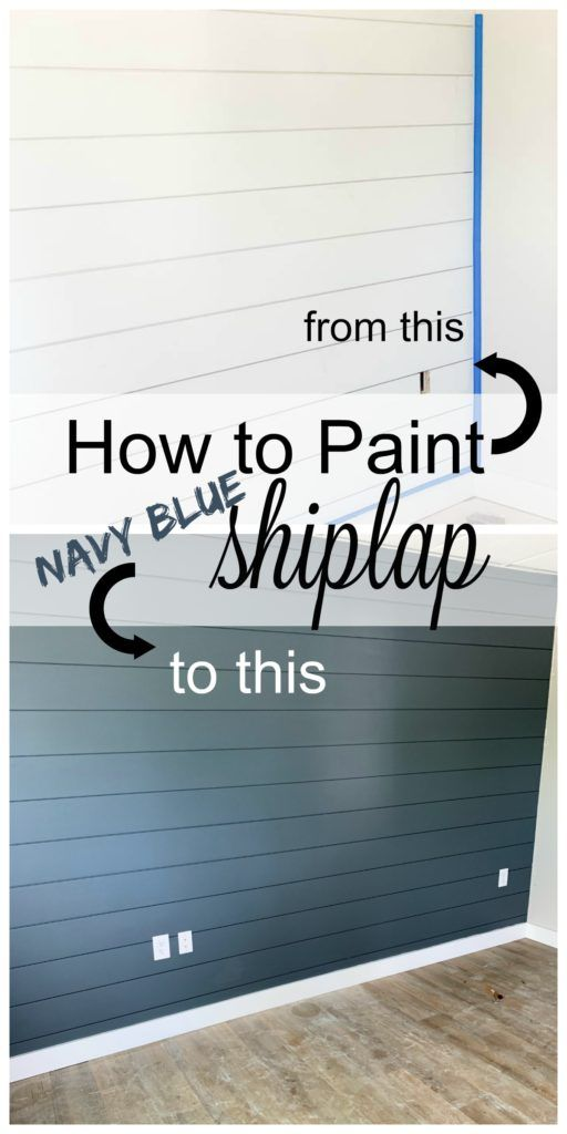 Painting Shiplap / How to paint shiplap walls with…