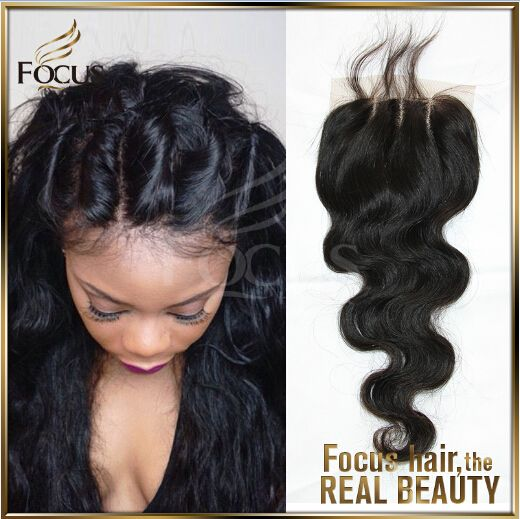 Free Style, middle part, 3 way lace closure, silk closure -Focus Hair