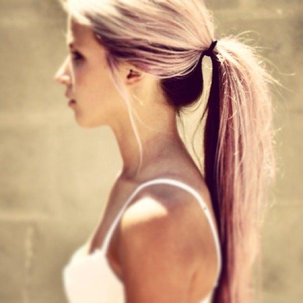 Dark Red Brown Hair With Blonde Underneath