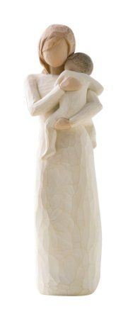 """First Mother's Day Gifts: Willow Tree figurines are a wonderful way to commemorate life events. I adore this """"Child of My Heart"""" figurine. The card with it says: """"Child of the world, into my heart you came - bringing sun into my life, making family our name""""."""