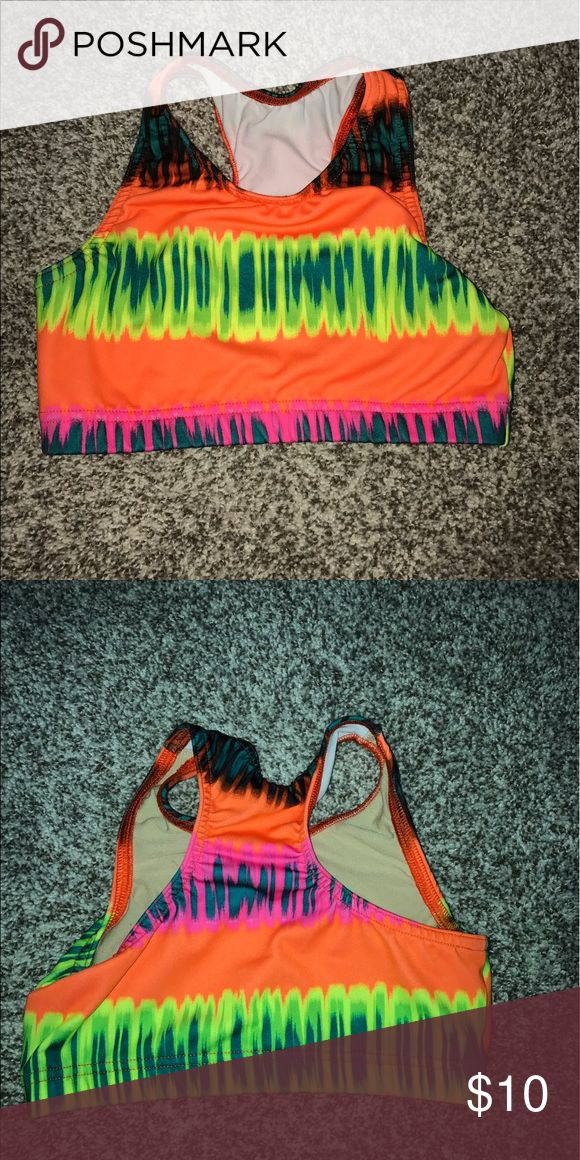 Kids varsity cheer sports bra!;) YM neon bra!! only worn couple of times! super comfortable Other