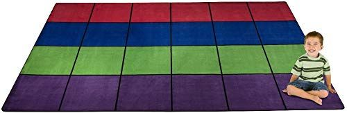 New Kid Carpet FE702-44A Blocks Seating Nylon Area Rug Multi 24, 7'6 x 12′, Multicolored online shopping