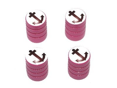 Anchor Boat - Tire Rim Valve Stem Caps - Pink Car Accessories   Girly Car Accessories