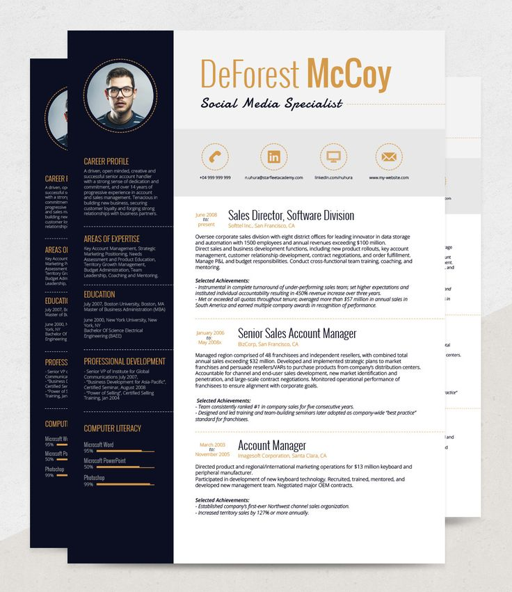 easy to customize free resume template give it your personal unique touch change - Free Resume Fonts