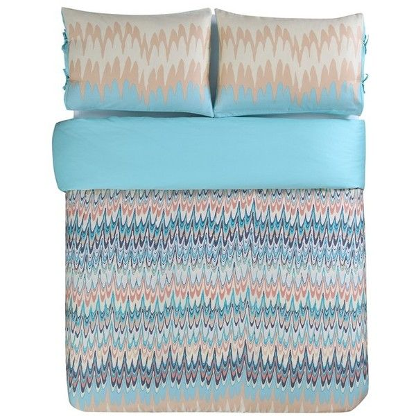 Kensie Ginny Duvet Cover Set 136 Liked On Polyvore Featuring Home