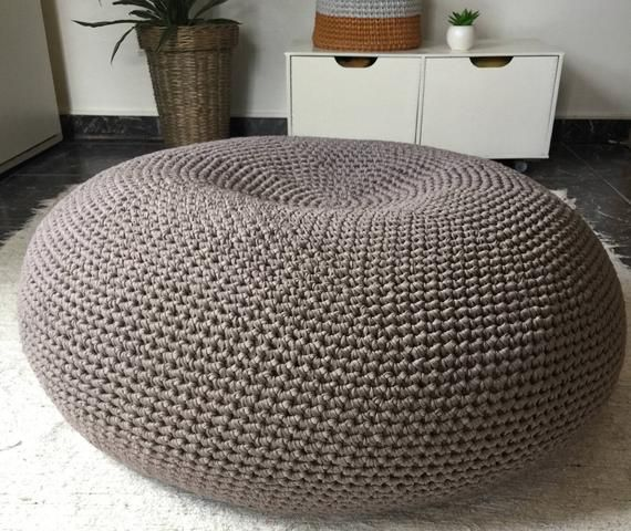 Marvelous Oversized Round Pouf Ottoman Giant Floor Cushion Coffee Uwap Interior Chair Design Uwaporg