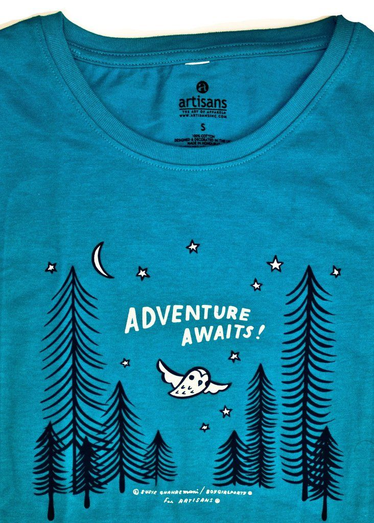 4cd2d0df Adventure Awaits Ladies T-Shirt / Graphic Tee – the boygirlparty shop – shop .boygirlparty.com