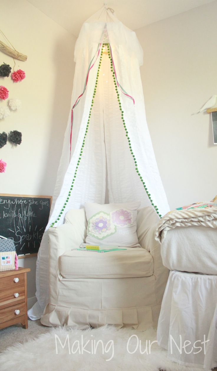 Cute kids bedroom curtains ideas and color options pmc interiors - Add A Diy Canopy To Your Child S Room For A Fun And Whimsical Place For Them