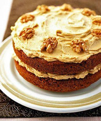 Торт на кофе с орехами
