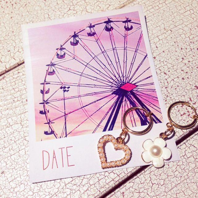 【CADU CADU CHARM】 デートにはお気に入りのイヤリングを♪¥1700+tax  左右自由に、オリジナルでお作りできますよ♡ CADU CADUラシック福岡天神店に遊びに来てくださいね♪