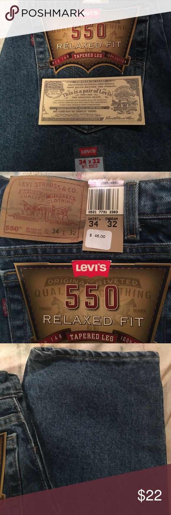 Men's Levi jeans. NWT. Brand new pair of men's Levi Jeans. Medium wash. Relaxed fit. Tapered leg. Levi's Jeans Straight Leg