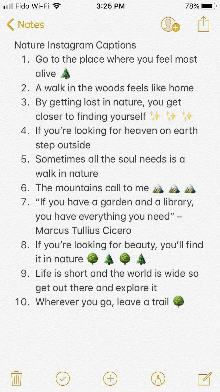 Nature Instagram Bio Quotes Instagram Quotes Instagram Quotes Captions