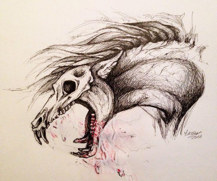 Картинка череп лошади рисунок