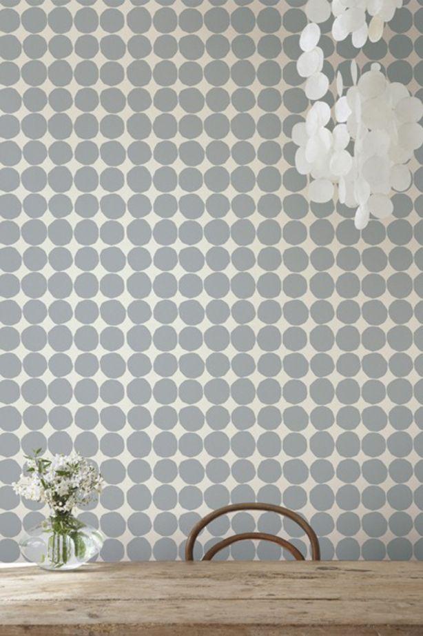 25 beste idee n over behang met stippen op pinterest badkamer met stippen papier met stippen - Wallpaper volwassen kamer trendy ...