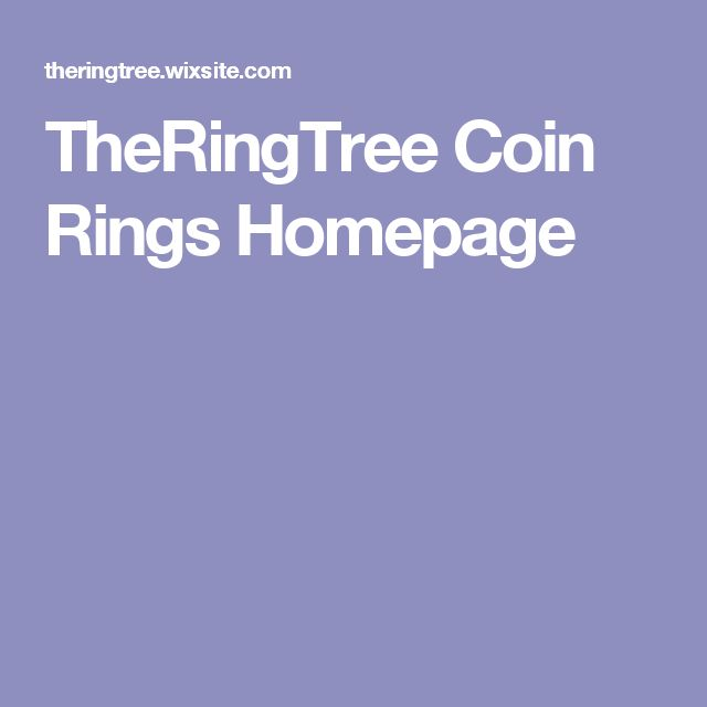 TheRingTree Coin Rings Homepage