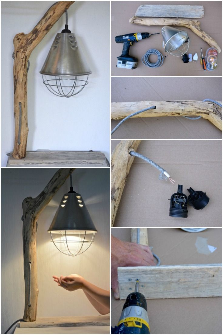 Awesome DIY How to Make a Driftwood Table Lamp  #Bedroom #Bedside #DIY #Driftwood #Edison #Farmhouse #Handmade #Recycled #simple #Wood Have you picked up a piece of driftwood in the sea? Why not make a table lamp! and add a touch of nature to your contemporary decor, shabby chic, vin...