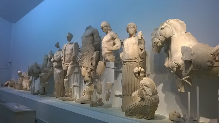 The statues that adorned the pediment of Zeus Temple in Ancient Olympia.