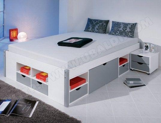 lit avec rangement interlink mikar 140x200 549 lit rangement lit double avec rangement et