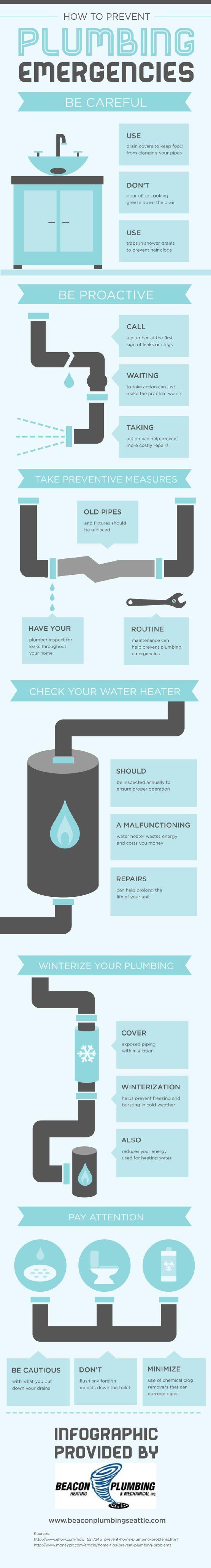 How To Prevent Plumbing Emergencies [INFOGRAPHIC] #plumbing#emergencies